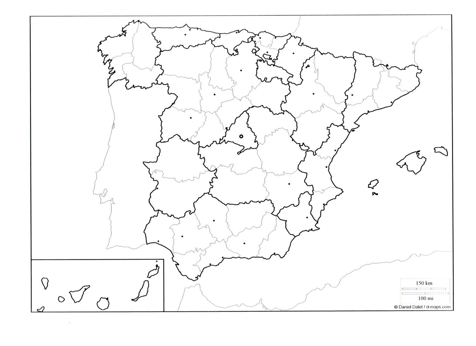 Mapa Fisic Espanya Mut.Projecte D Espanya Per A Sise De Primaria Mapa Comunitats