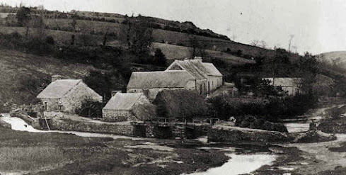 zo zag de molen er voor 1800 uit, nu veel meer bos