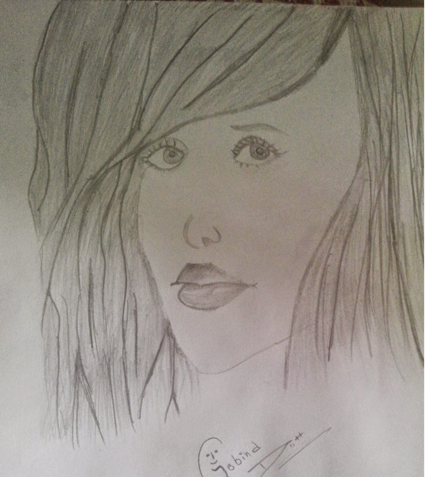 Hi friends i am sharing with you my new portrait i give her name as a dream girl i dont know who is she but i draw her