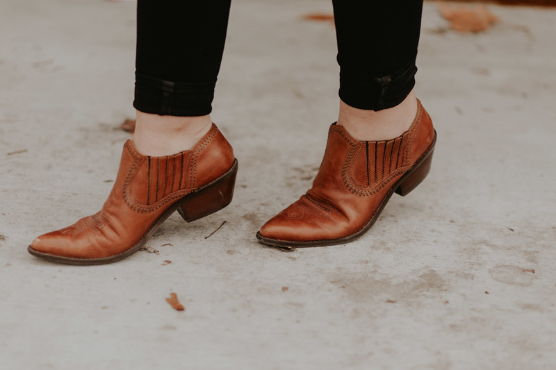 vintage, leather booties, bootie season