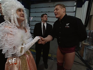 WWE / WWF Backlash 2001 - William Regal greets The Duchess of Queensbury backstage