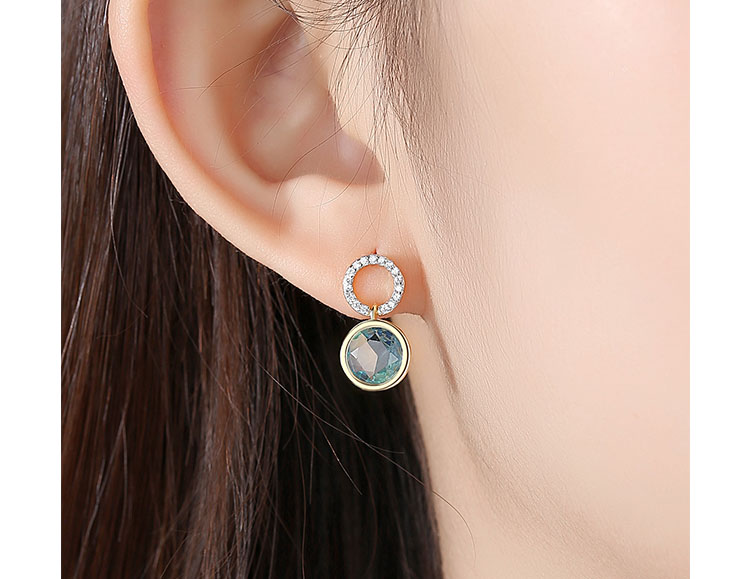 寧靜藍 3A級鋯石耳環