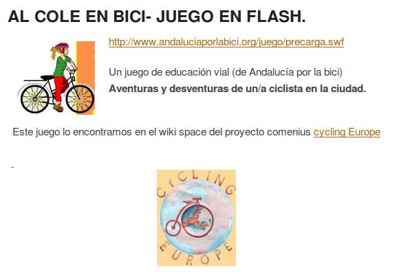 Juego en flash de bicis