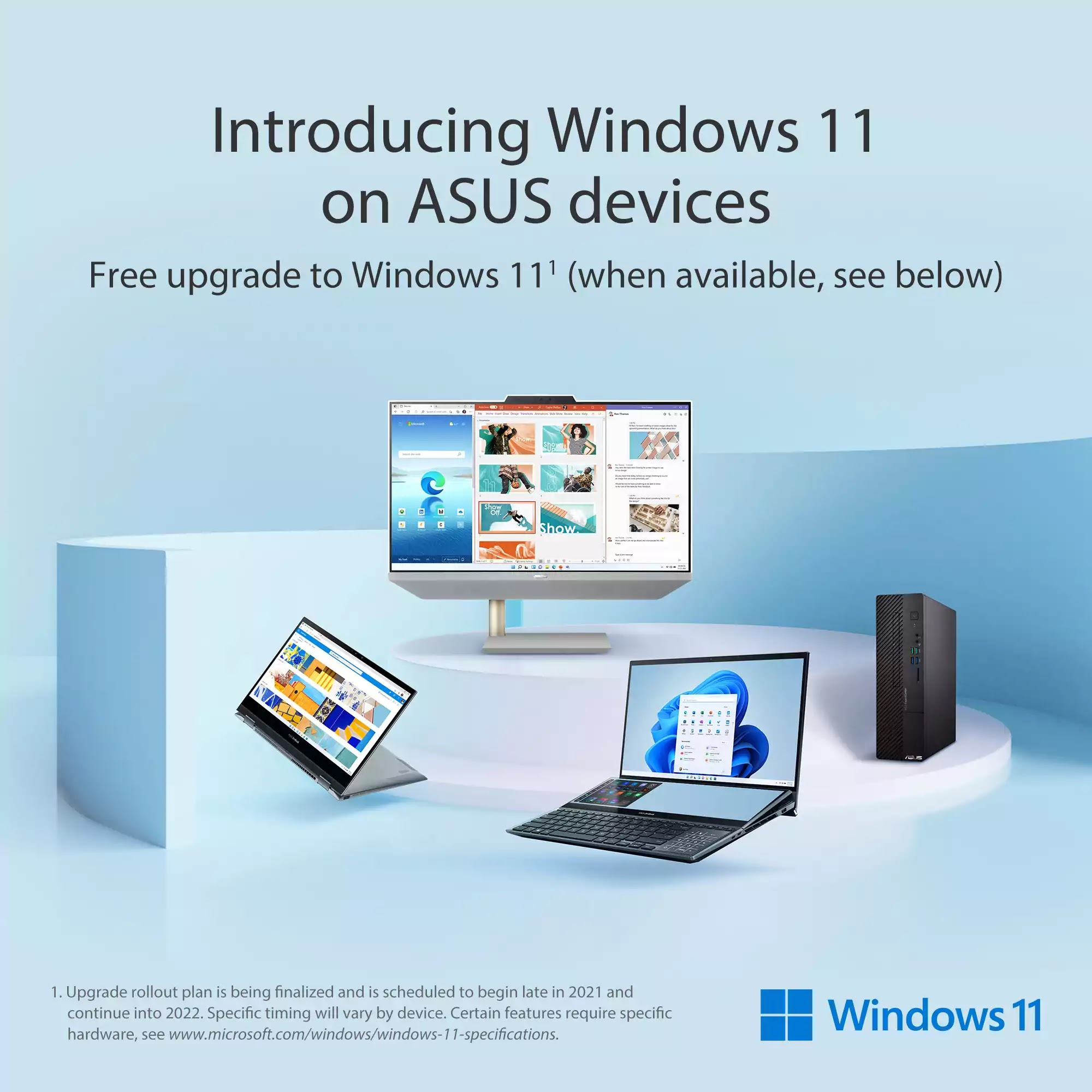 ASUS Partners with Microsoft for Windows 11 Upgrade