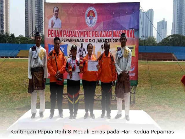 Kontingan Papua Raih 8 Medali Emas pada Hari Kedua Peparnas