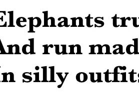 An Elephant a Day: Elephant No. 54: Haiku