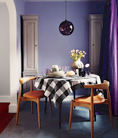 Purple and violet color for dining room