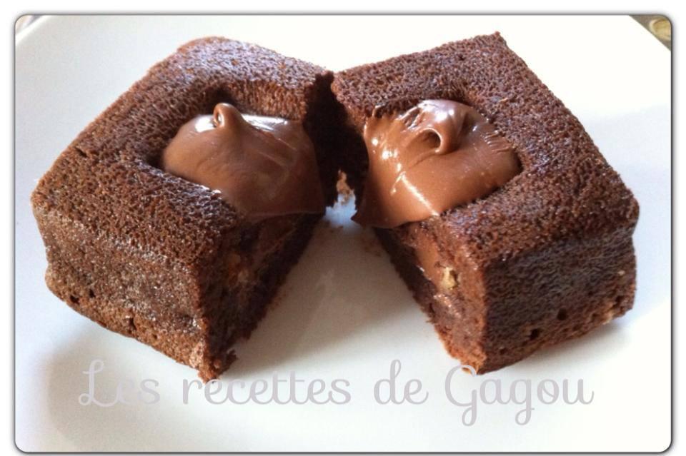les recettes de gagou moelleux chocolat coeur nutella. Black Bedroom Furniture Sets. Home Design Ideas