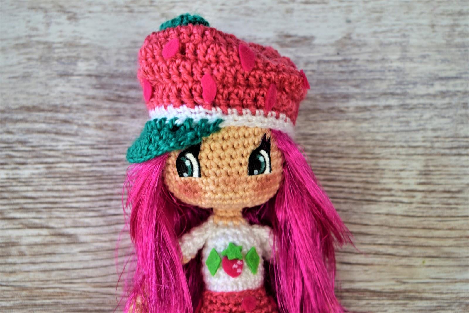 Patrigurumis Rosita Fresita Amigurumi Crochet Diy