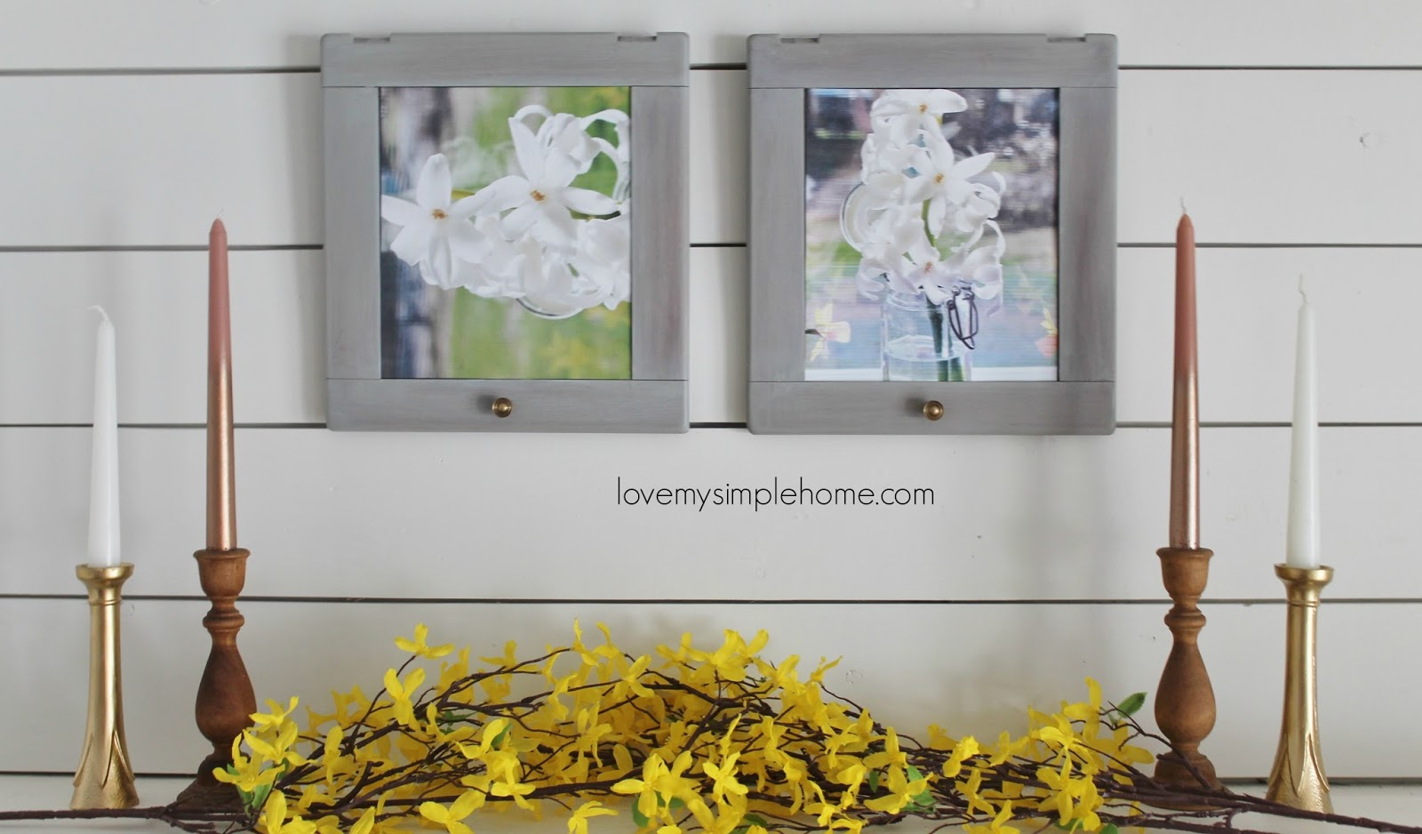 Simple Repurpose Of Cabinet Doors Into Frames Love My Simple Home