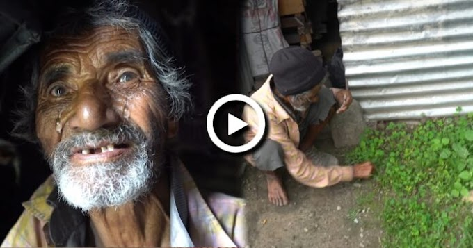 घाँस खाएर बिहान बेलुकाको छाक टार्दै, ७५ बर्षिय बृद्ध बुवाको यस्तो हरिबिजोग (हेर्नुस् भिडियो)