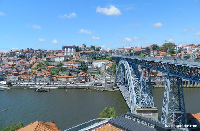 Cidade do Porto, Portugal, vista de Vila Nova de Gaia