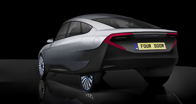 Riversimple Rasa four-door sketch