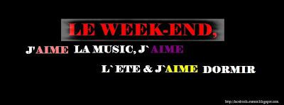 statut facebook  weekend
