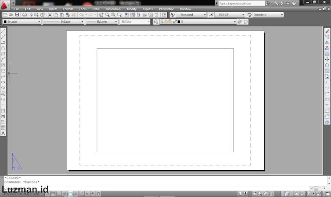 Dasar AutoCAD #4 - Mencetak Gambar (mengatur ukuran kertas & penskalaan)