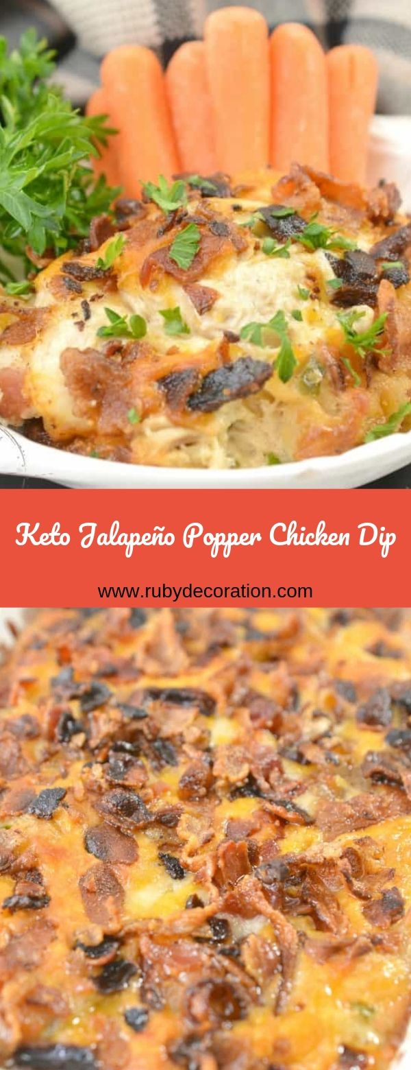 Keto Jalapeño Popper Chicken Dip