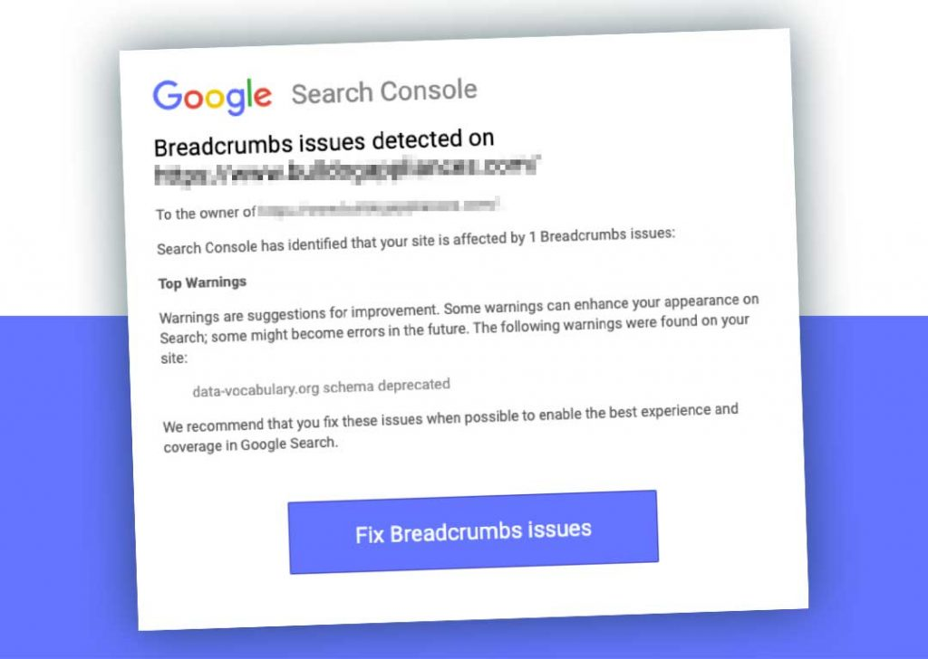 Breadcrumbs issue