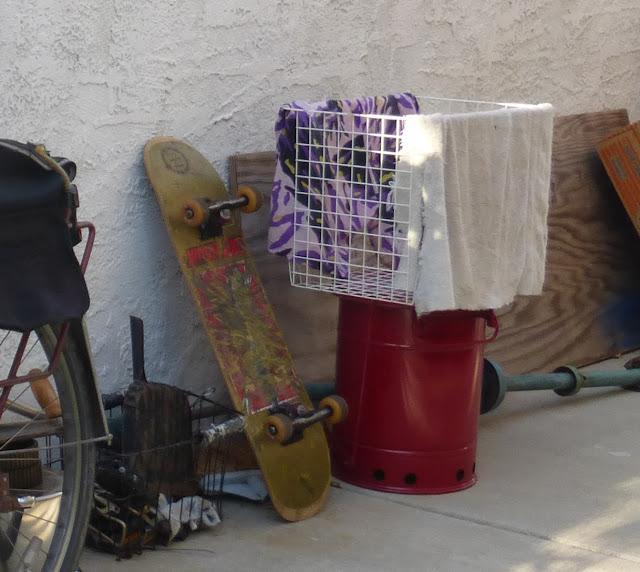 new bike basket from garage sale