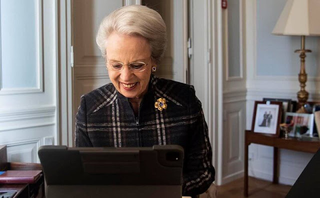 Princess Benedikte participated in two virtual meetings with first The Olave Baden-Powell Society and subsequently the Girl Scouts Joint Council