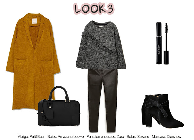 photo-Abrigo: Pull&Bear - Bolso: Amazona Loewe - Pantalón encerado: Zara - Botas: Sezane - Máscara. Diorshow