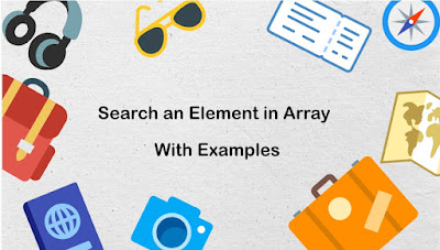 Search an Element in Array Using C