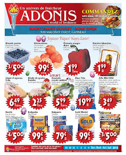 Marche Adonis Canada Flyer March 29 - April 4, 2018