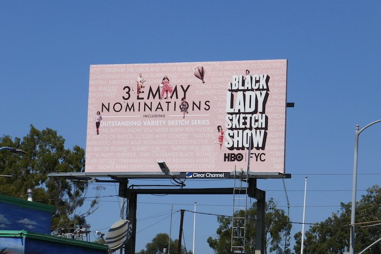 A Black Lady Sketch Show season 1 Emmy nominee billboard