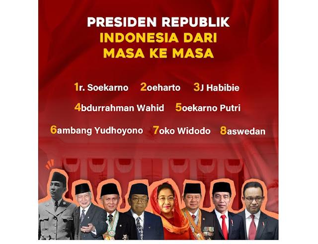 VIRAL... Utak Atik Gatuk Sesuai Nomor dan Nama, Anies Baswedan Presiden RI Ke-8