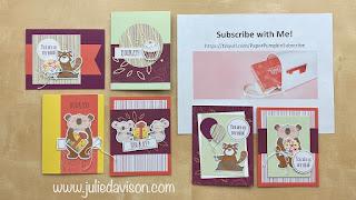 December 2020 Beary Comforting Paper Pumpkin Projects + Video ~ www.juliedavison.com #stampinup #paperpumpkin