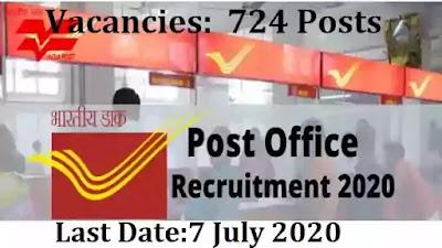 Uttarakhand Post Circle Recruitment 2020  Govt Jobs in India for 724 Various Posts