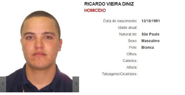 Ricardo Vieira Diniz - Homicídio