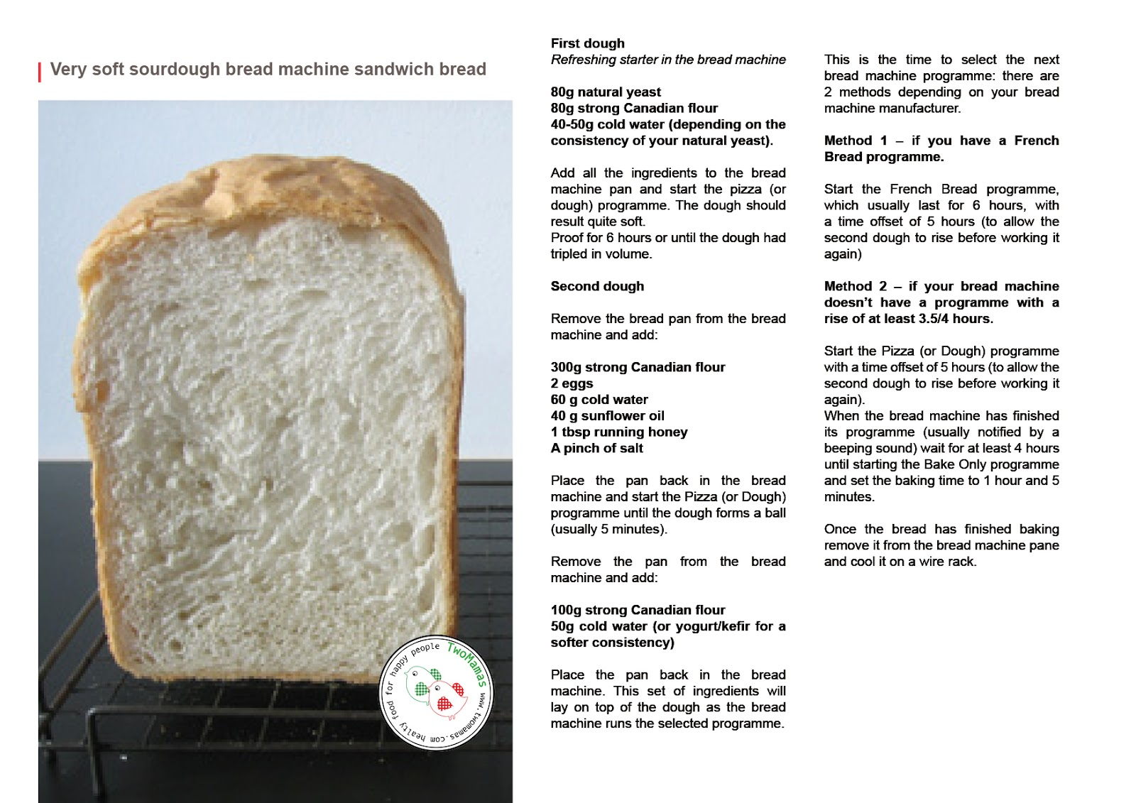 Very soft sourdough bread machine sandwich bread | two mamas blog