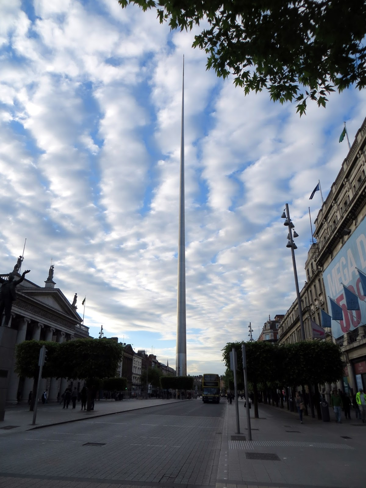 clouds, Dublin, Ireland, Europe, things to do in dublin, guide to dublin, travel blog, travelling, the custom house, liffey, ireland photography, dublin photography, eire, Guinness, temple bar, irish pub, traditional, cobbled street, beautiful, dublin spire, O'Connell street, post office