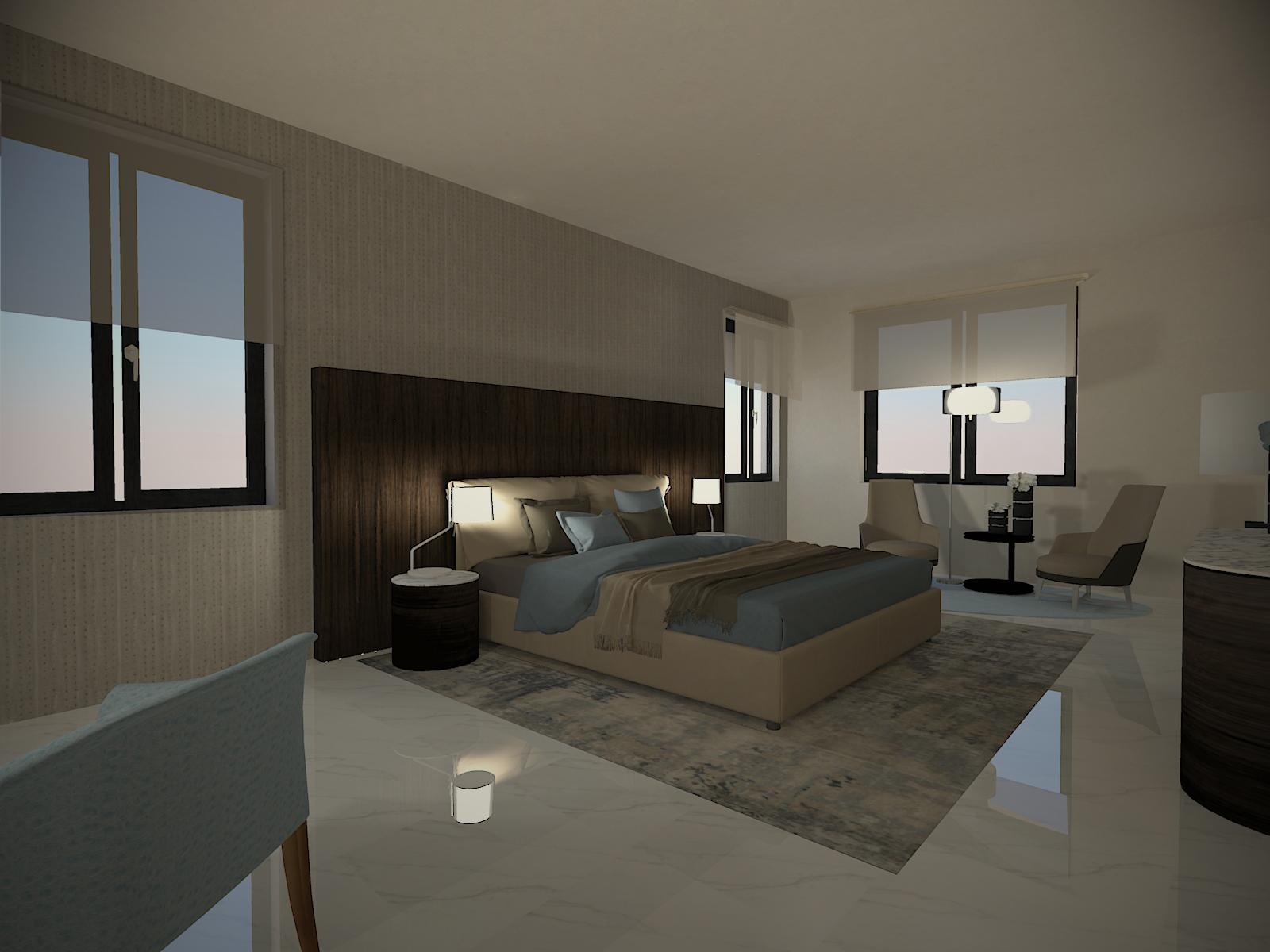 Camera Da Letto Elegante camera da letto, eleganza e sobrieta' : il design italiano