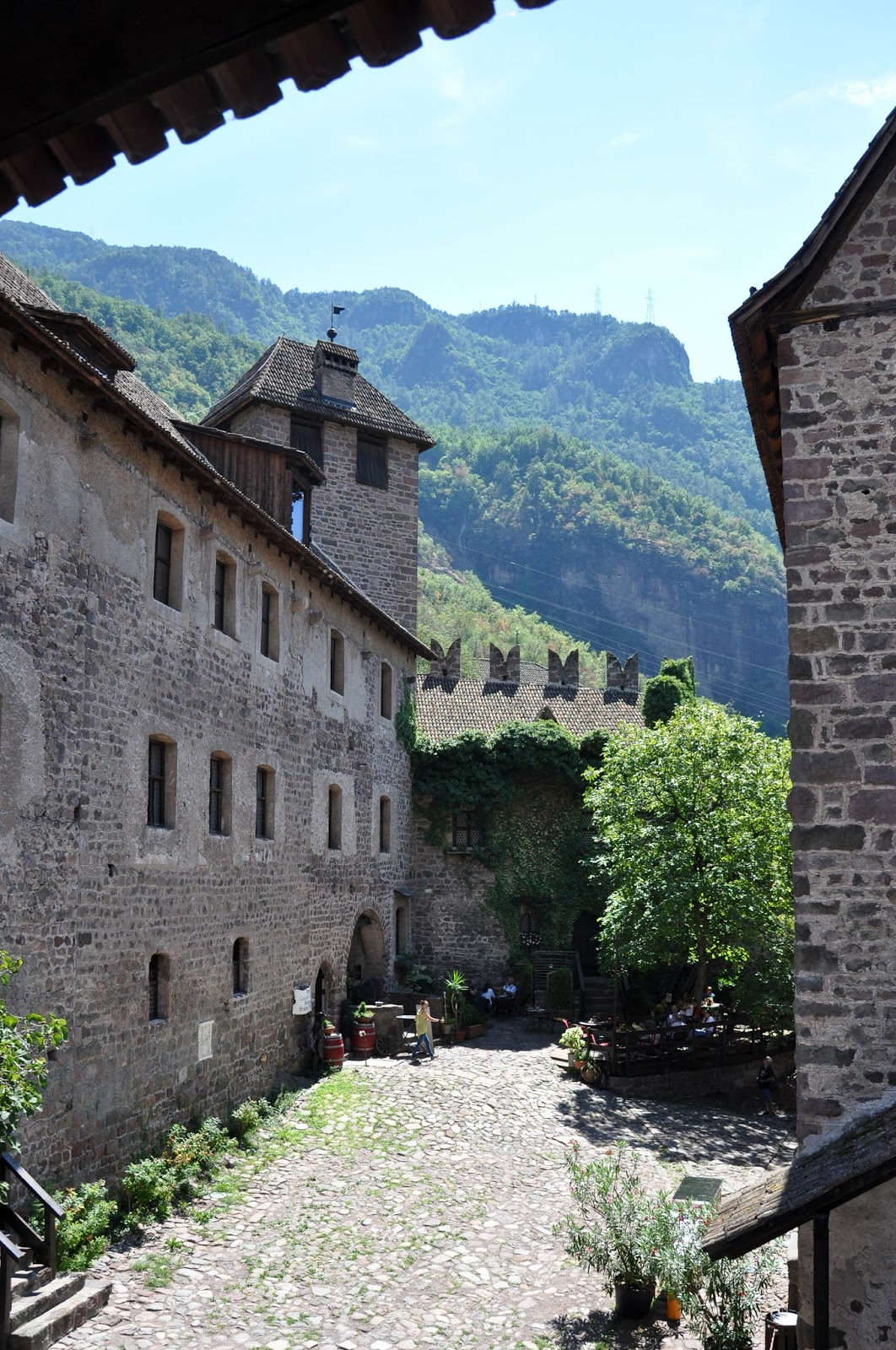 The courtyard, Runkelstein Castle, Bolzano, South Tyrol, Italy