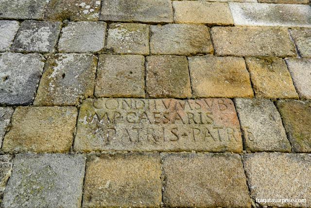 Inscrição romana na Sé de Braga, Portugal