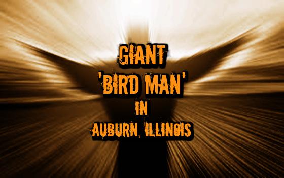 Giant 'Bird Man' in Auburn, Illinois