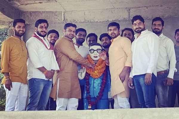 faridabad-bjym-team-celebrated-dr-bhim-rao-ambedkar-birthday