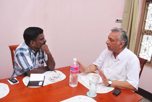 journalist samas with mani shankar ayyar
