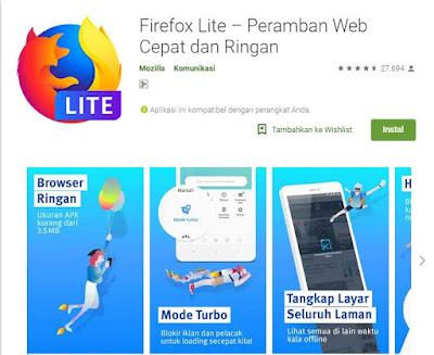 browser android teringan saat ini