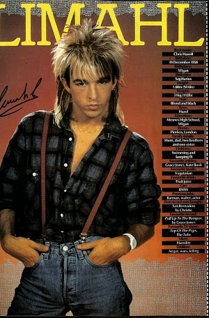 Limahl wearing braces