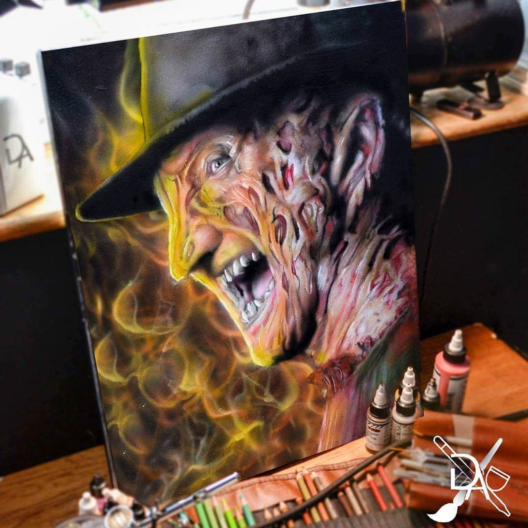 14-Freddy-Krueger-Dean-McCann-Superheroes-Villains-Monsters-and-Robot-Drawings-www-designstack-co