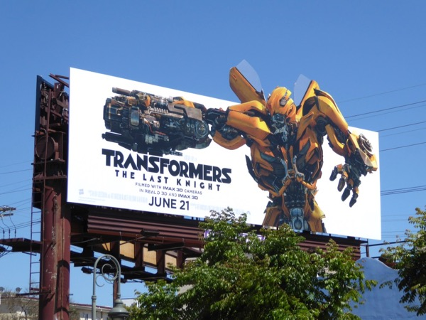 Transformers Last Knight Bumblebee extension billboard