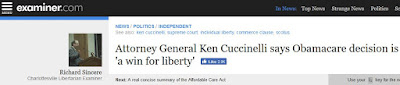 Ken Cuccinelli Obamacare SCOTUS health care commerce clause