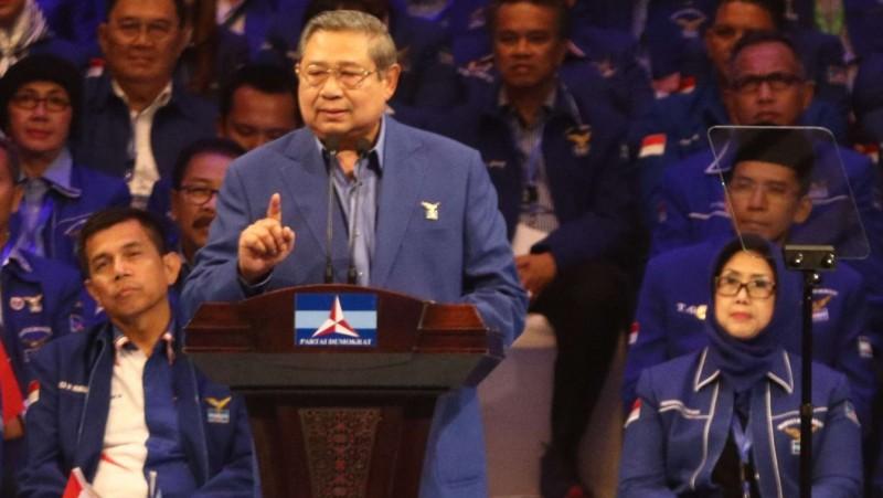 SBY berpidato politik dalam acara Dies Natalis Demokrat