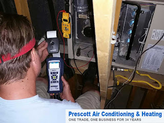 Prescott Air Conditioning can perform a thorough inspection of your Prescott home's heating system and help you stay warm and cozy this winter.