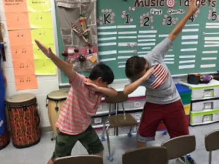 Music class targets bulletin board