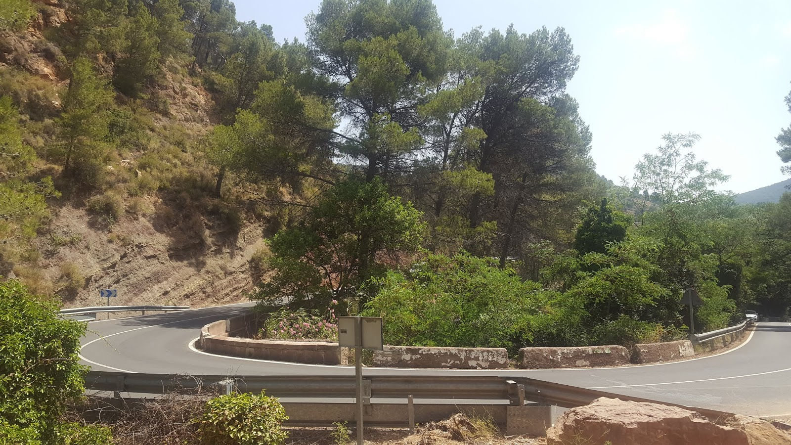 Hairpin bend on the climb of l'Oronet, Valencia, Spain