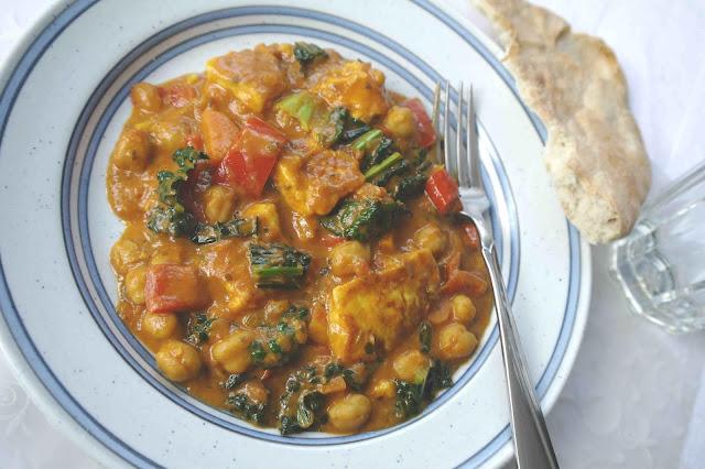 Vegetarisk gryta med indiska smaker