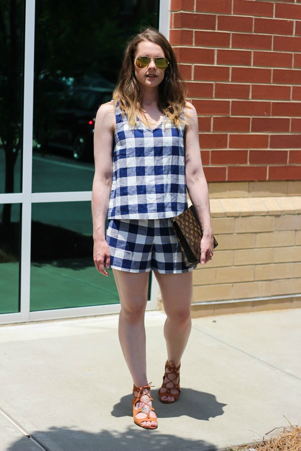 Gingham matching separates- street style